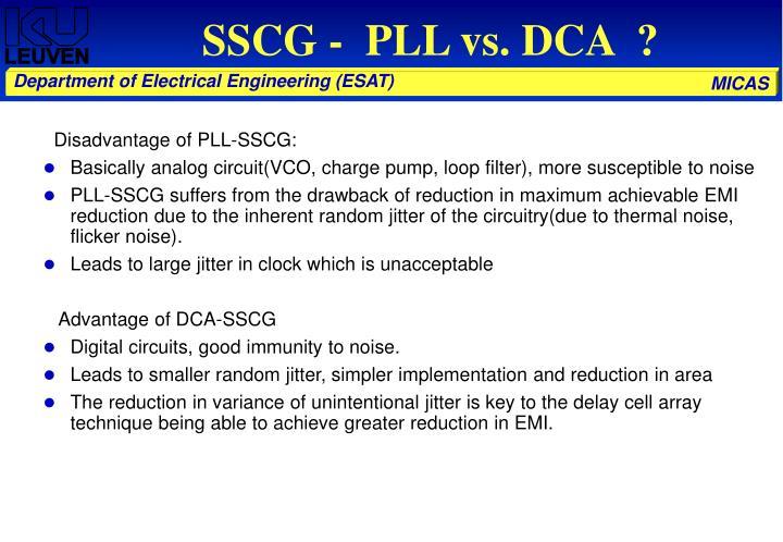 SSCG -  PLL vs. DCA  ?