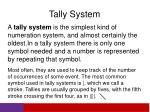 tally system
