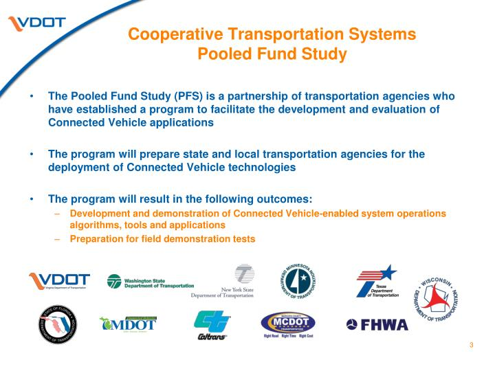 Cooperative transportation systems pooled fund study2