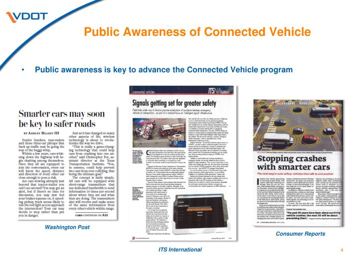 Public Awareness of Connected Vehicle