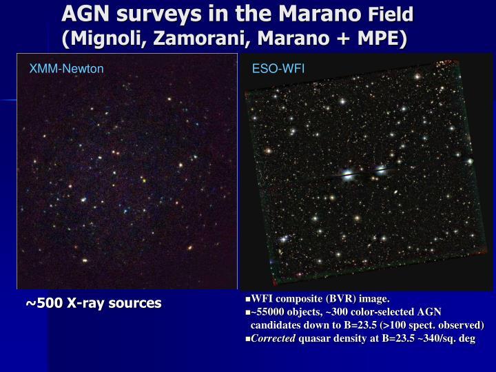 AGN surveys in the Marano