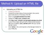 method a upload an html file