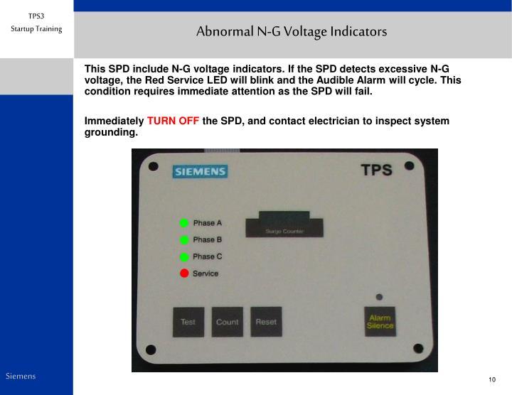 Abnormal N-G Voltage Indicators