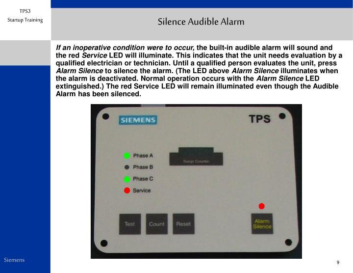 Silence Audible Alarm