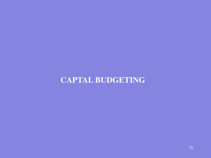 CAPTAL BUDGETING