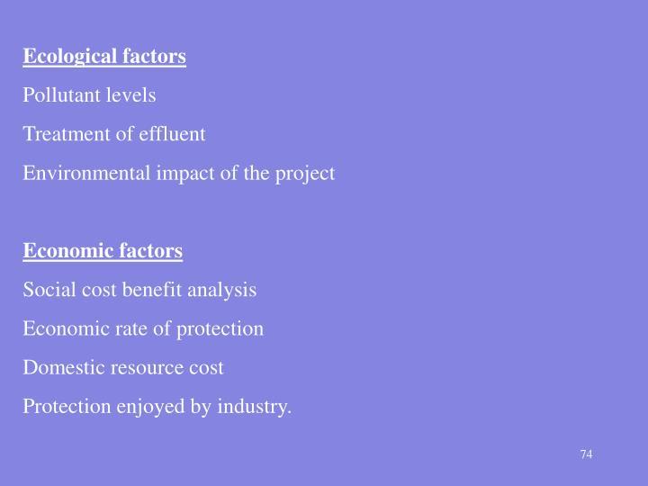 Ecological factors