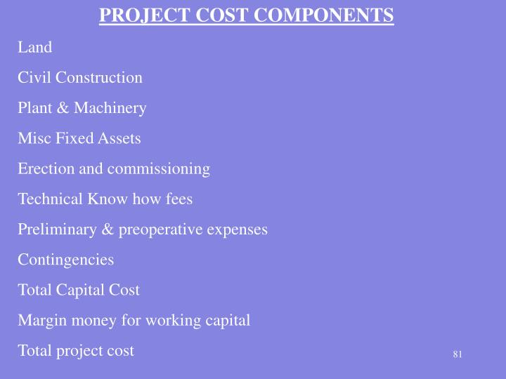 PROJECT COST COMPONENTS