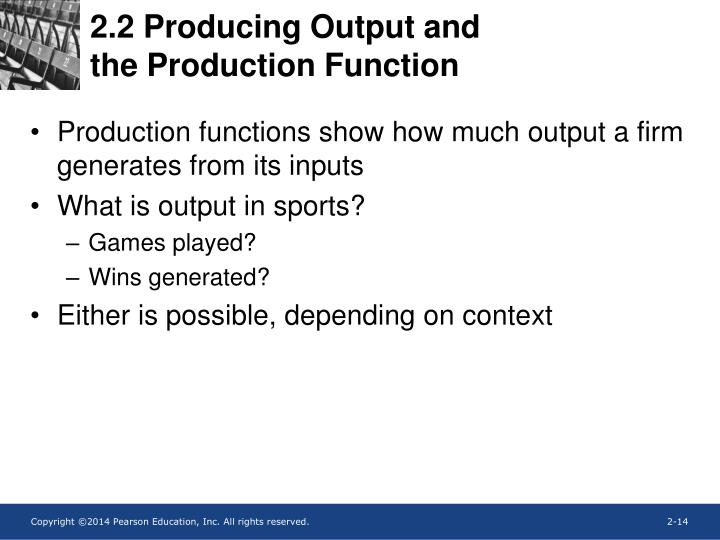 2.2 Producing Output and