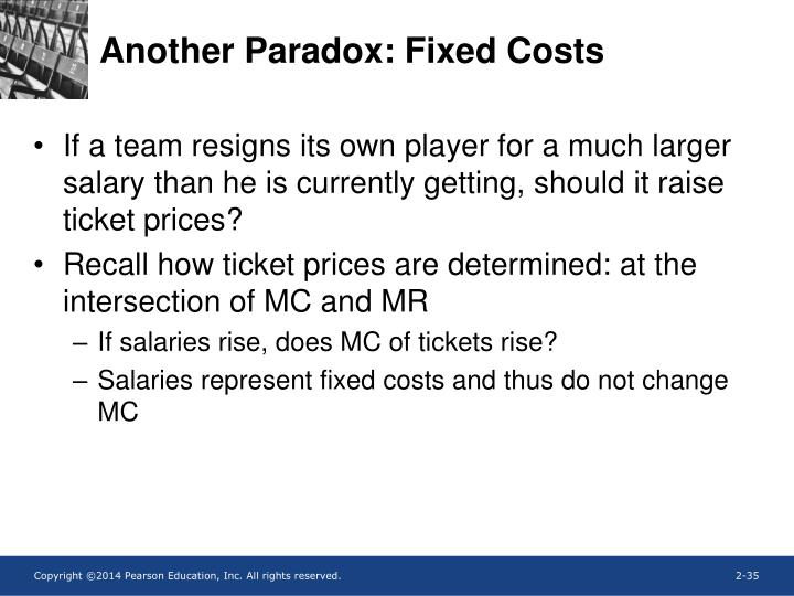 Another Paradox: Fixed Costs