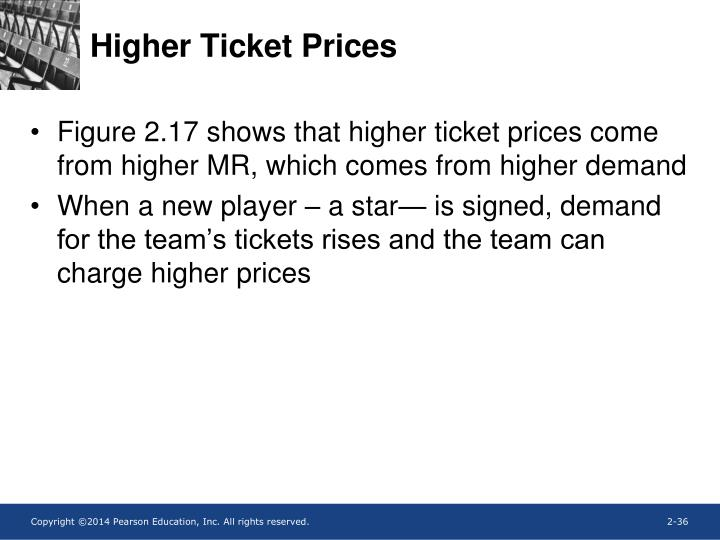 Higher Ticket Prices