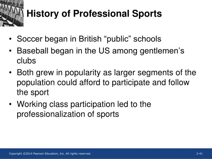 History of Professional Sports