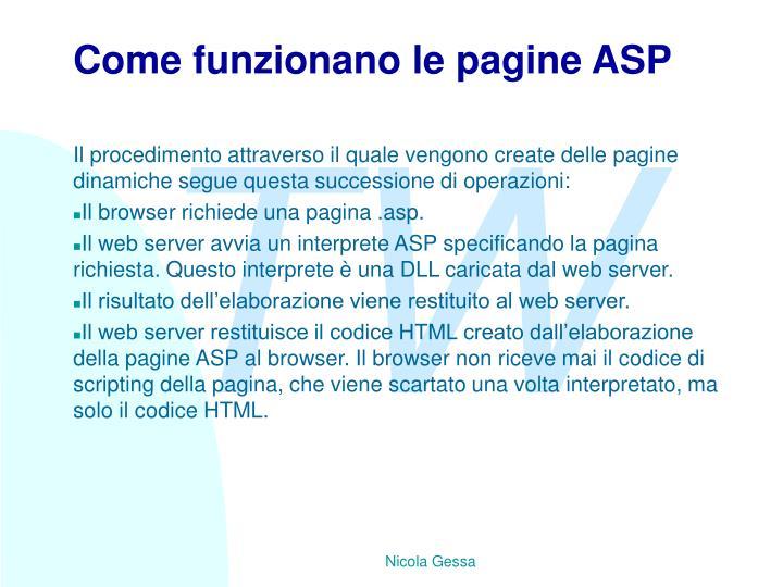 Come funzionano le pagine ASP
