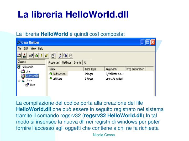 La libreria HelloWorld.dll