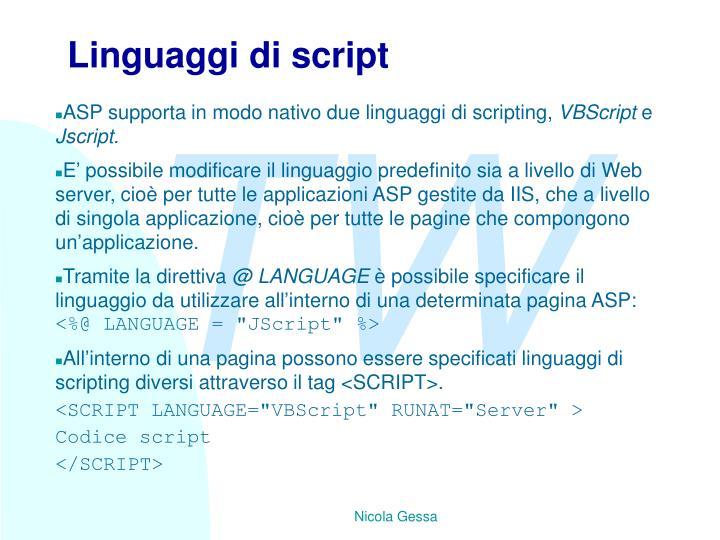 Linguaggi di script