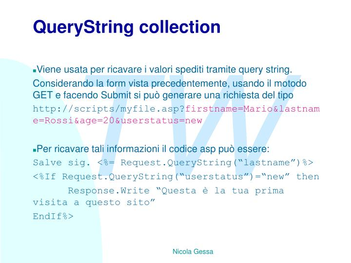 QueryString collection