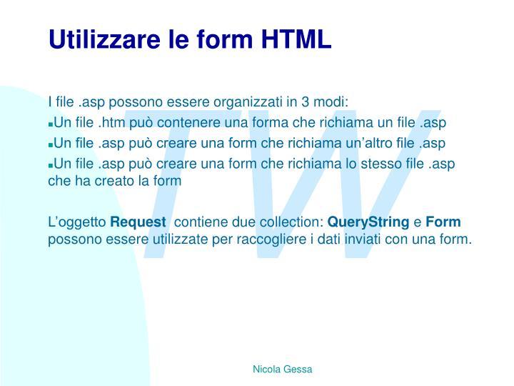 Utilizzare le form HTML