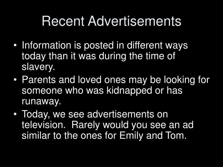 Recent Advertisements