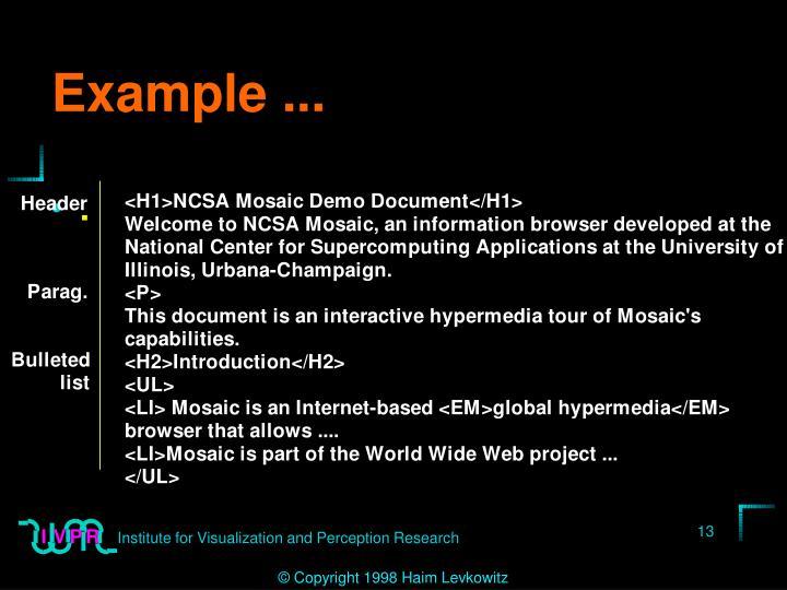 Example ...