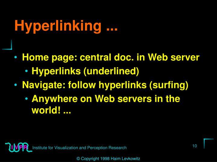 Hyperlinking ...