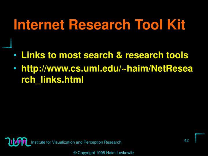 Internet Research Tool Kit