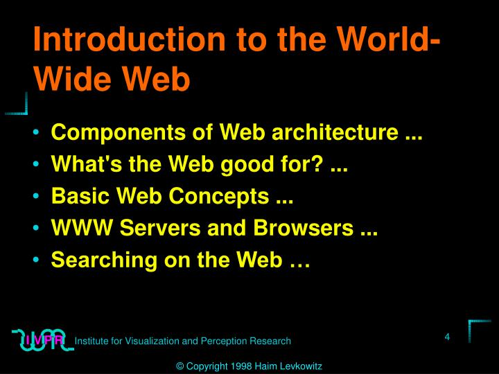 Introduction to the World-Wide Web