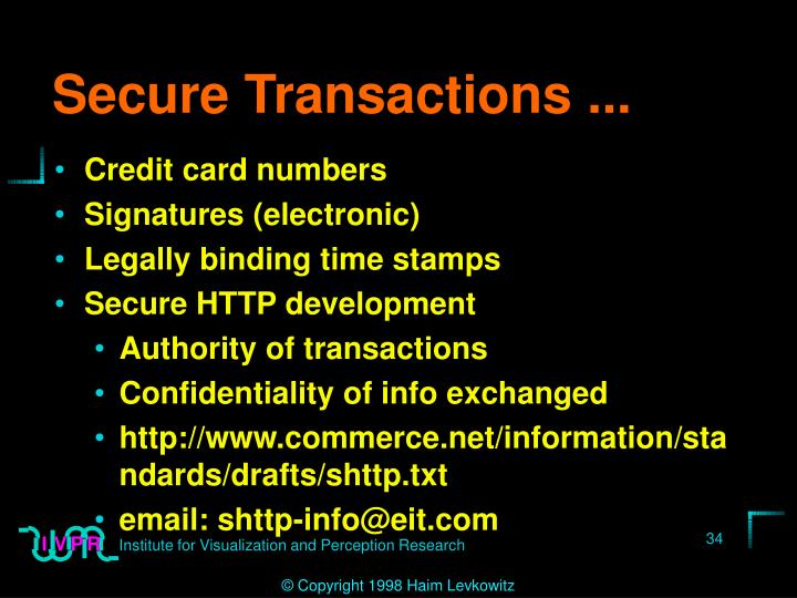 Secure Transactions ...