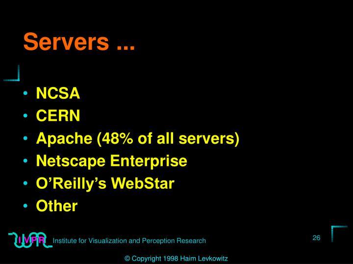 Servers ...