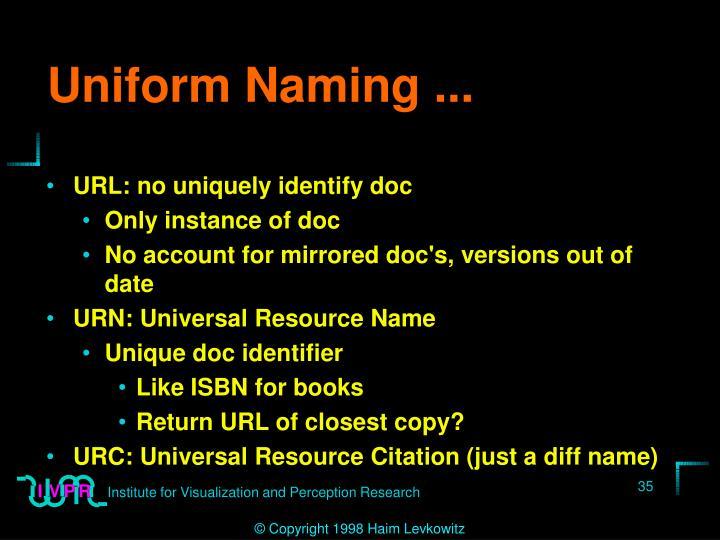 Uniform Naming ...
