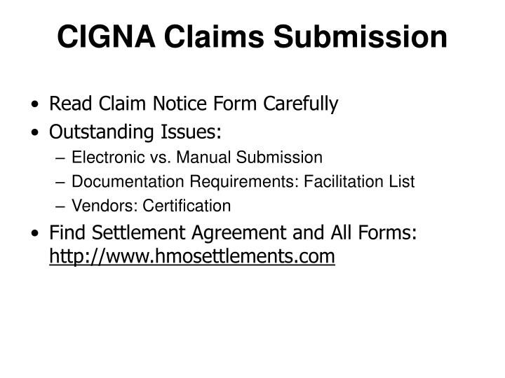 CIGNA Claims Submission