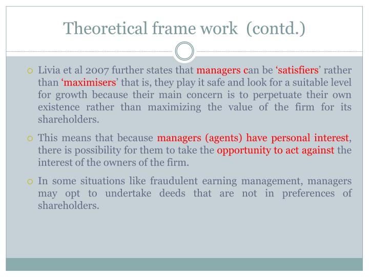 Theoretical frame work  (contd.)