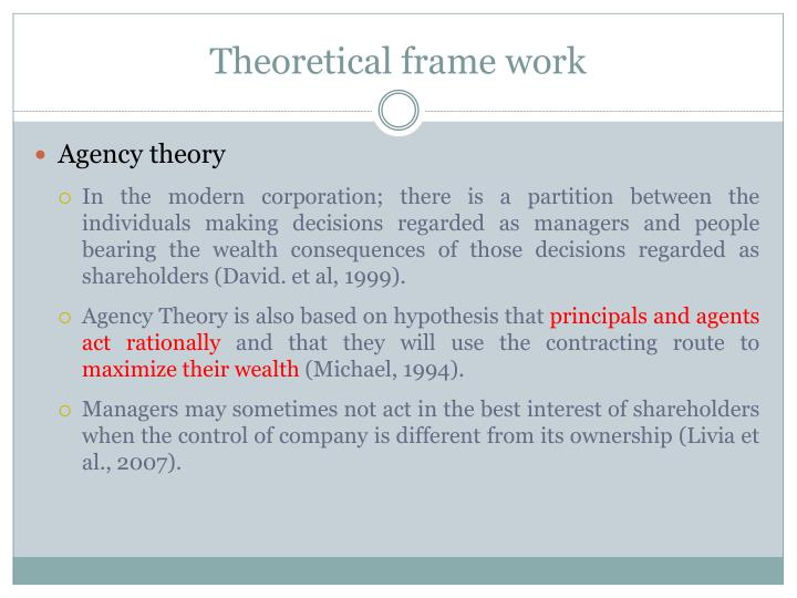 Theoretical frame work
