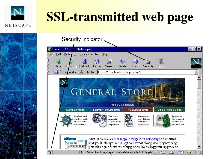 SSL-transmitted web page
