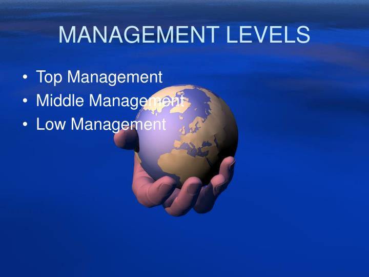 MANAGEMENT LEVELS