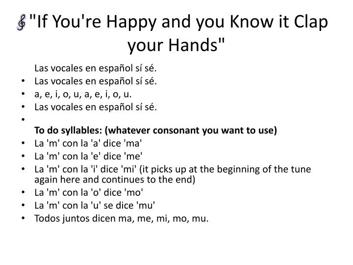 If you re happy and you know it clap your hands