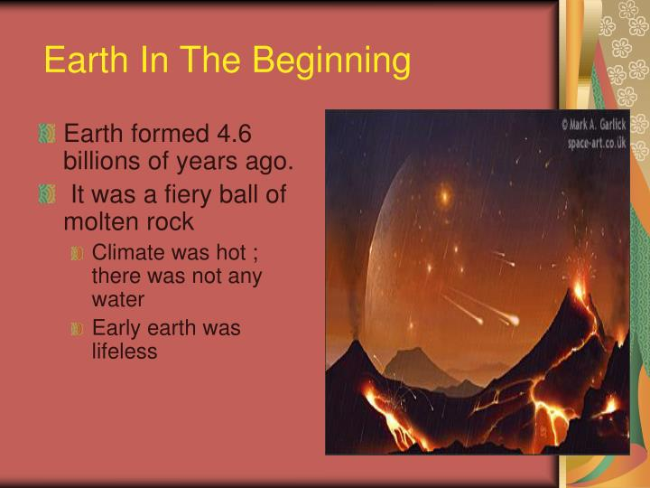 earth in the beginning n.