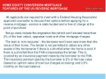 home equity conversion mortgage features of the us reverse mortgage