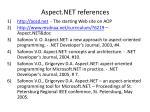 aspect net references