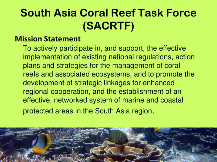 South Asia Coral Reef Task Force