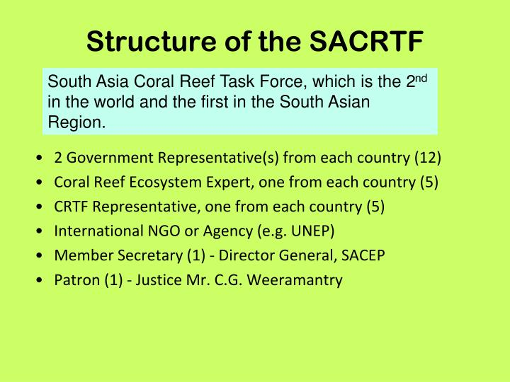 Structure of the SACRTF