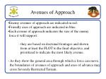 avenues of approach