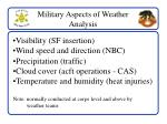 military aspects of weather analysis