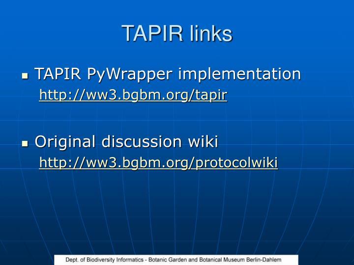 TAPIR links