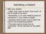 admitting a patient1