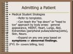 admitting a patient2