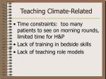 teaching climate related