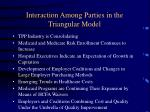 interaction among parties in the triangular model
