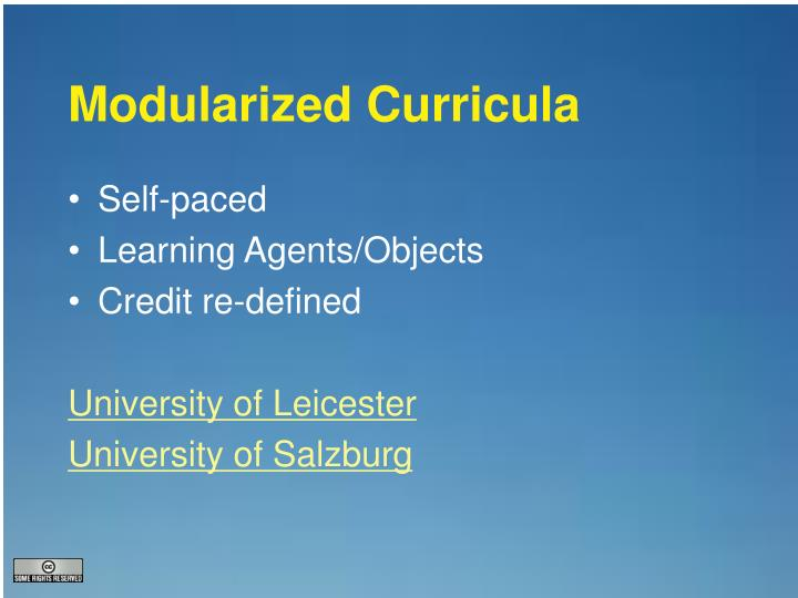 Modularized Curricula