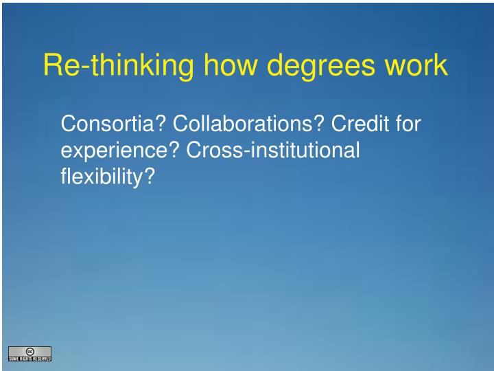 Re-thinking how degrees work