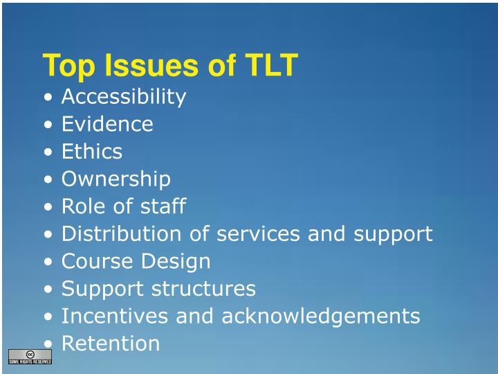Top Issues of TLT