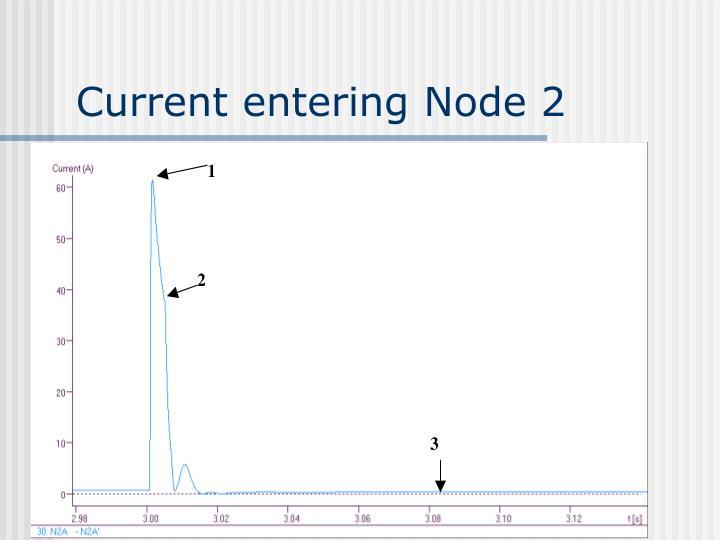 Current entering Node 2
